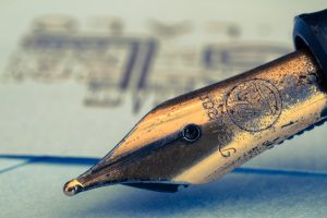Old rusted fountain pen.
