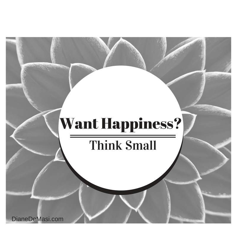 Want Happiness? Think Small.